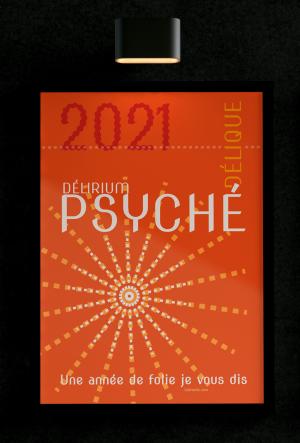 Affiche '2021 Psychédélique'