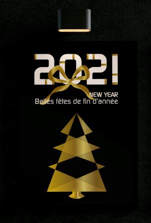 Affiche pour les fêtes de fin d'année et la nouvelle année 2021